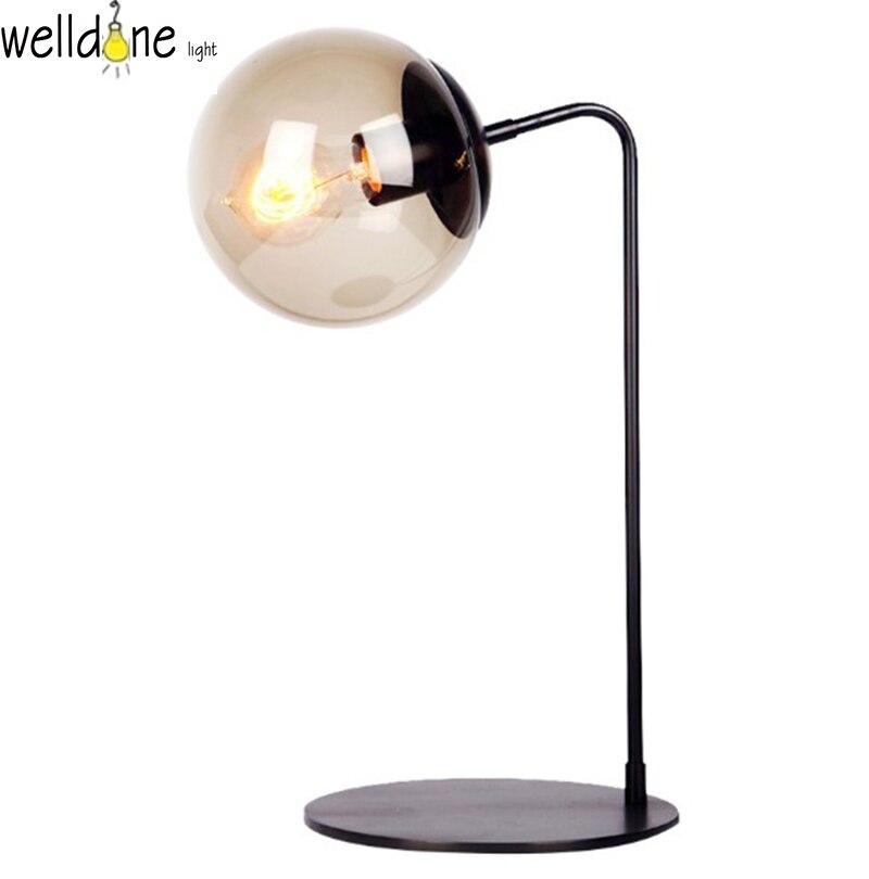 Lampe de bureau design Innovation lampe d'intérieur en verre abat-jour éclairage lampe de bureau en fer pour lampe de chambre