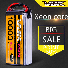 Free Shipping VOK Power 22.2V 10000mAh 25C Max 40C 6S RC LiPo Battery For DJI S800 S900 S1000 Airplane RC Models Quadcopters