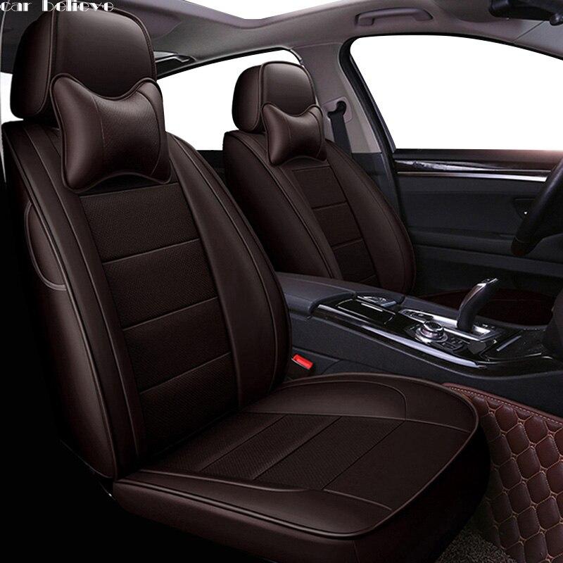 XL-BE Beige Universal Car Seat Covers Set for BMW 3 E30 E36 E46 E90 F30 G20 G21