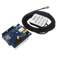 Free Shipping GPS Shield GPS Record Expansion Board GPS Module With SD Slot Card With Antenna