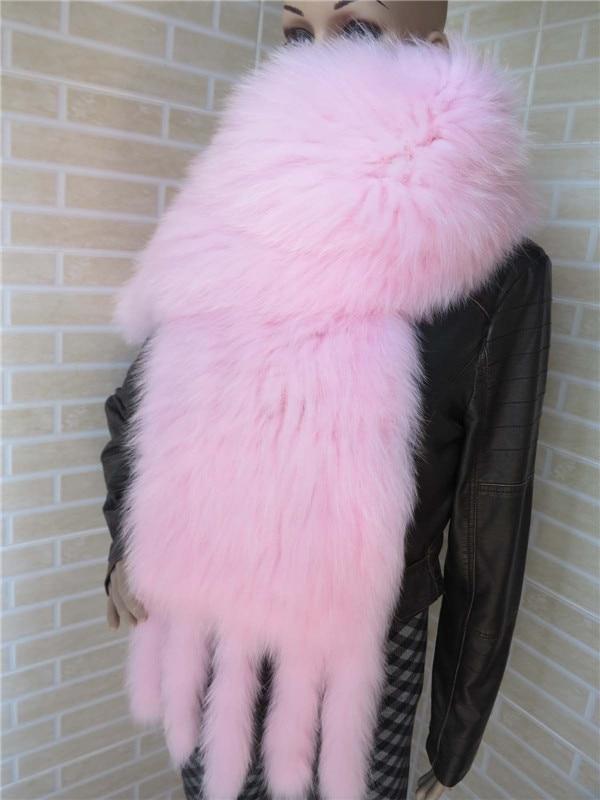 Natural fox fur   wraps   women female ladies white black knitted fur   scarves   autumn winter warm   scarf   S43