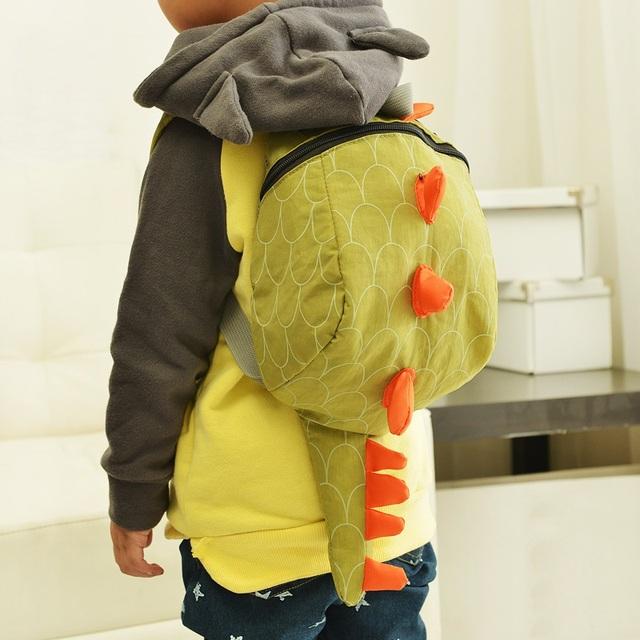 Popular Estilo Coreano Bonito do Dinossauro de Pelúcia Mochila para Crianças Moda 2016 Meninos e Meninas do jardim de Infância Mochila Animais