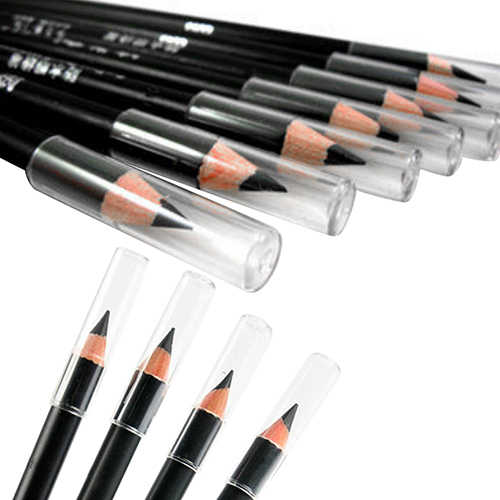 2Pcs Black Smooth Waterproof EyeLiner Eyebrow Pencil Cosmetic Makeup Beauty Tool  7H3Z