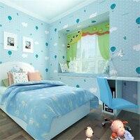 beibehang Environ mentally friendly non woven wallpaper warm children bedroom bedroom wallpaper cute pink strawberry parachute