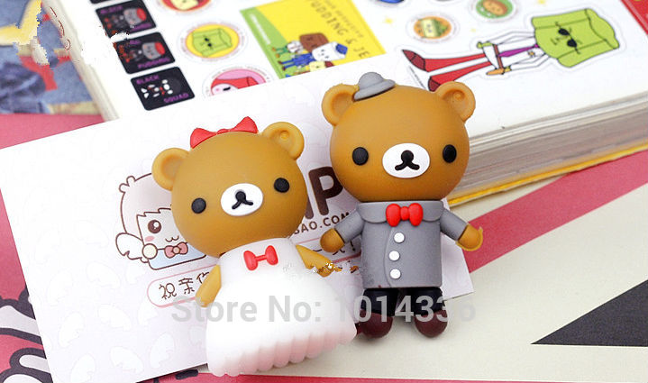 Memory of Love teddy usb flash drive bear wedding dress couple USB flash drive pen drive USB memory stick drives ks255#21