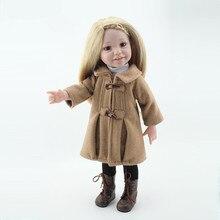 45cm Bebe Doll Reborn Fashion Boneca Reborn Dolls 18inch American Girl Doll Including the Shoes Clothing Juguetes Brinquedos