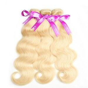 Brazylijski platynowy blond wiązki ciało fala Remy doczepy z ludzkich włosów blond 613 włosy wyplata 10 - 30 Cal pakiety oferty Mydiva
