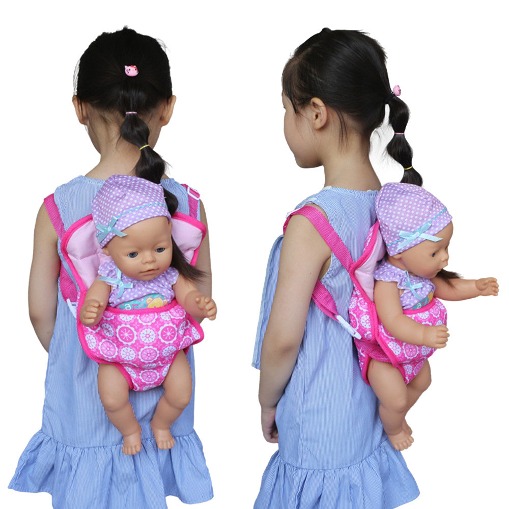 18 In Children Backpack Carrier Sleeping Bag For American Doll Girl Clothes Gift
