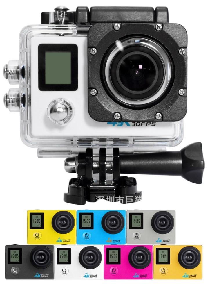 4K Sports DV Dual Screen 2.4G Remote Control Sports Camera WIFI Waterproof Camera free shipping