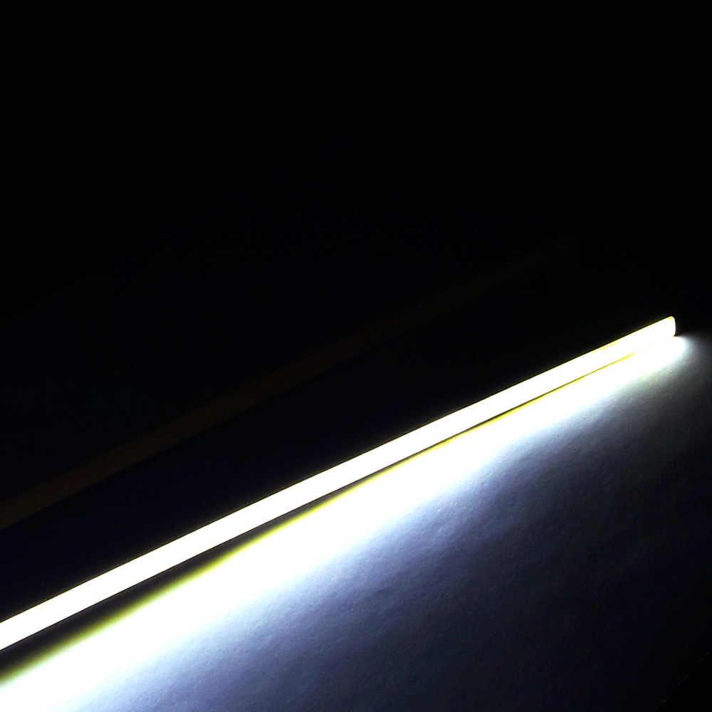 10cps 24in 60cm Led Strip Lamp Cob Bar Lights 12v Dc Warm Cool White Car Decoration Light Kit House Indoor Outdoor Lighting Bulb