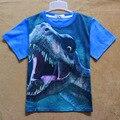 Dinossauro Animal dos desenhos animados Crianças Meninos crianças T-shirt Crianças traje roupa dos miúdos meninos roupas de manga curta crianças tops H658