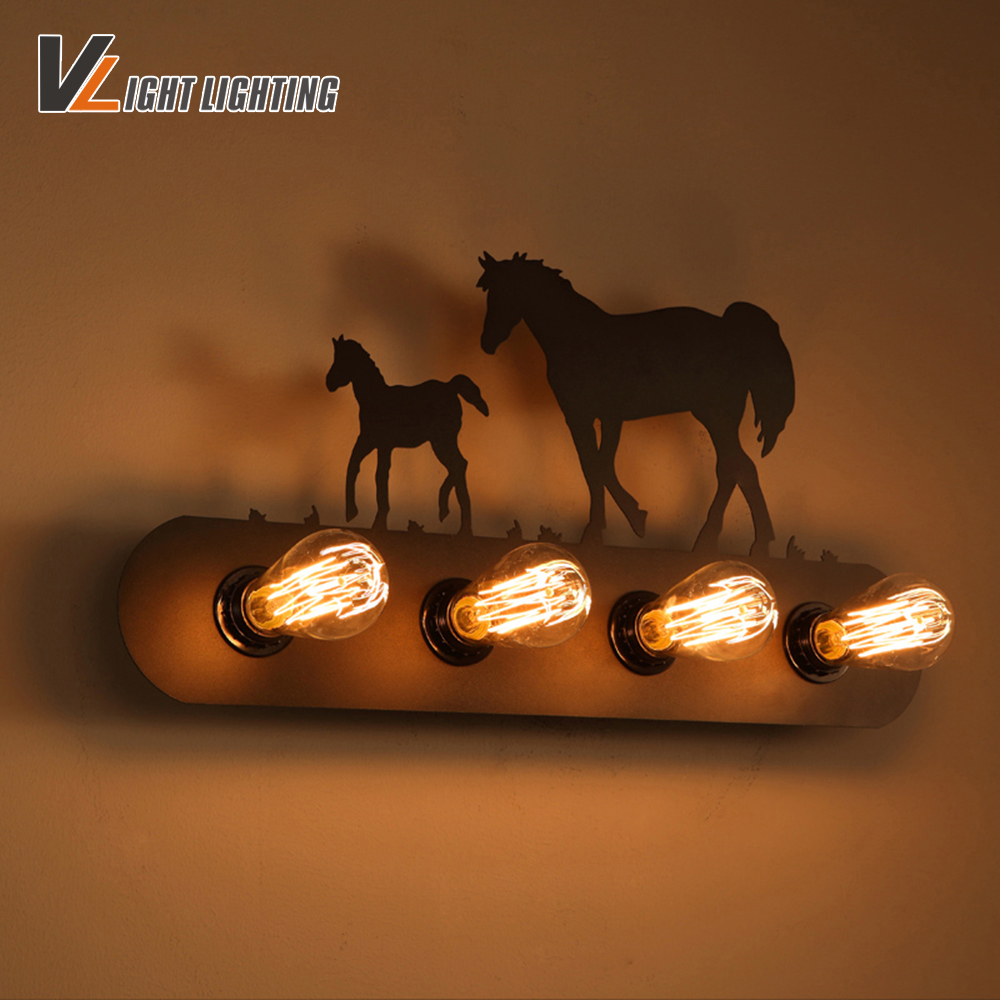 American Loft vintage wall lamp indoor lighting bedside lamps wall lights for home Decoration Lighting110V/220V E27 m american vintage wall lamp indoor lighting bedside lamps wall lights for home stair lamp