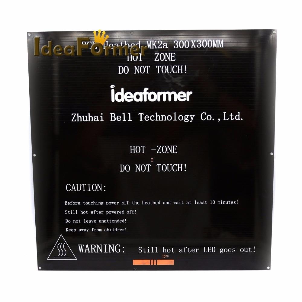 3D printer 12V/24V Aluminum PCB Plate For 329*329*3mm Hot Bed  According to MK2a Reprap Standard|3d printer aluminum plate|aluminum 3d printer|aluminum bed 3d printer - title=