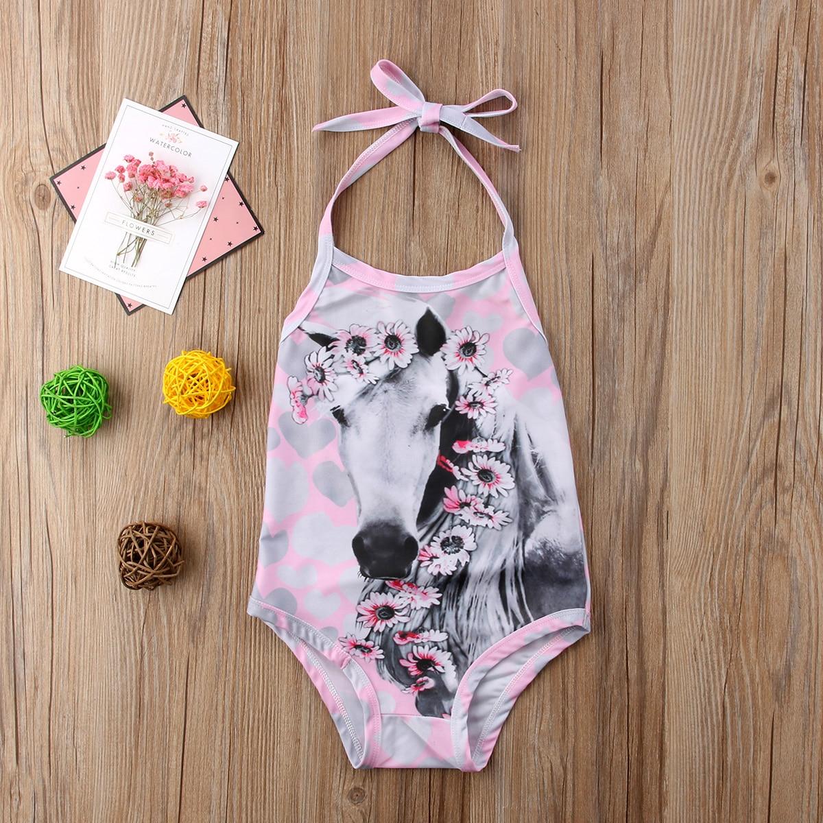 4f96d49e464e0 Little Girls One piece Unicorn Swimsuit Kids Girl Swimming Costume Unicorns  Kid Bikini Beach Swimwear Swimsuits Bathing set-in Children's One-Piece  Suits ...
