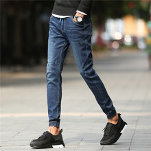 Biker jeans 2016 New Designer Slim Jeans Men High Quality hip hop Ripped Jeans pants Straight