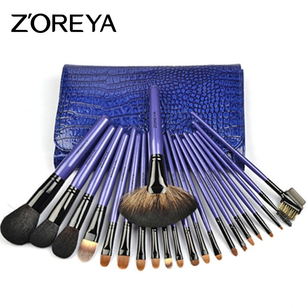 ZOREYA 22pcs Makeup Brushes Professional Make Up Brushes Set Powder Eyebrow Foundation Blush Cosmetic Kits Pincel Maquiagem zoreya 9pcs professional portable makeup brushes sets kolinsky hair foundation powder blush make up brush cosmetic tools pinceis