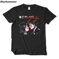 My Chemical Romance T shirt Men Punk Rock Band Tee Shirt Homme O neck Short Sleeve XXL MCR New Style Summer Cotton PatternTshirt