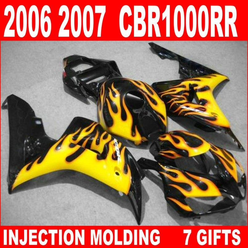 ᗐEnchufe de fábrica para carenados Honda CBR 1000 RR negro con ...