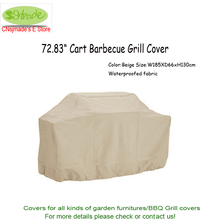 2017 New arrival 72.83″ Cart barbecue grill cover, 185X66X130cm , Beige waterproofed color,BBQ Cover ,Free shipping