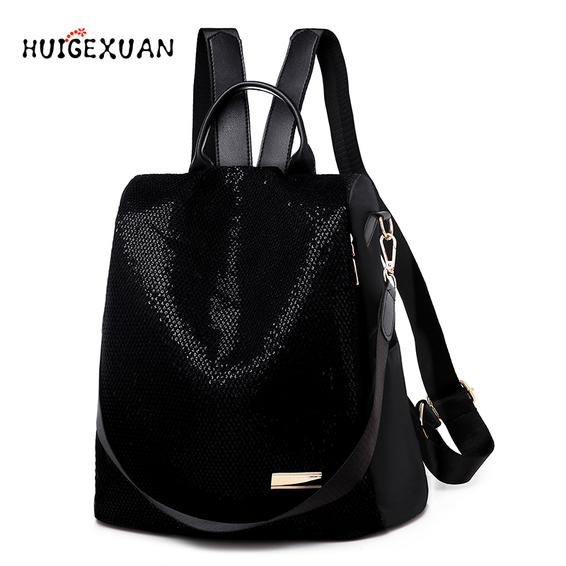 Shining Sequins Backpack Women's 2019 Fashion Daily Shoulder Bags Teenage Student Girls Anti-theft Leisure Backpacks Sac A Main