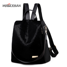 Shining Sequins Backpack Women's 2019 Fashion Daily Shoulder Bags Teenage Studen