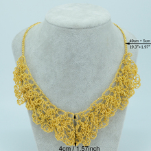 49cm + 5cm,Luxury Necklace for Women, Gold Plated Wedding/Party Necklace Trendy Jewelry Accessories African/Arabian  #035A060