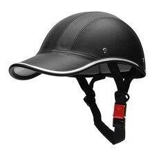 Moto Mezzo Casco Berretto Da Baseball StyleHalf Viso Casco Bici Elettrica Scooter Anti-Uv Cappello Duro di Sicurezza