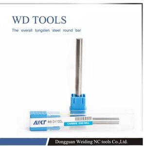 Image 3 - AYKT10pcs 1mm a 7mm X100 longitud tungsteno W Metal tungsteno varilla dureza extensible sin refrigerante agujeros tungsteno sólido carburo Bar