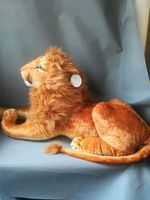 large 85cm real life toy lying male lion plush toy soft doll birthday gift h2377