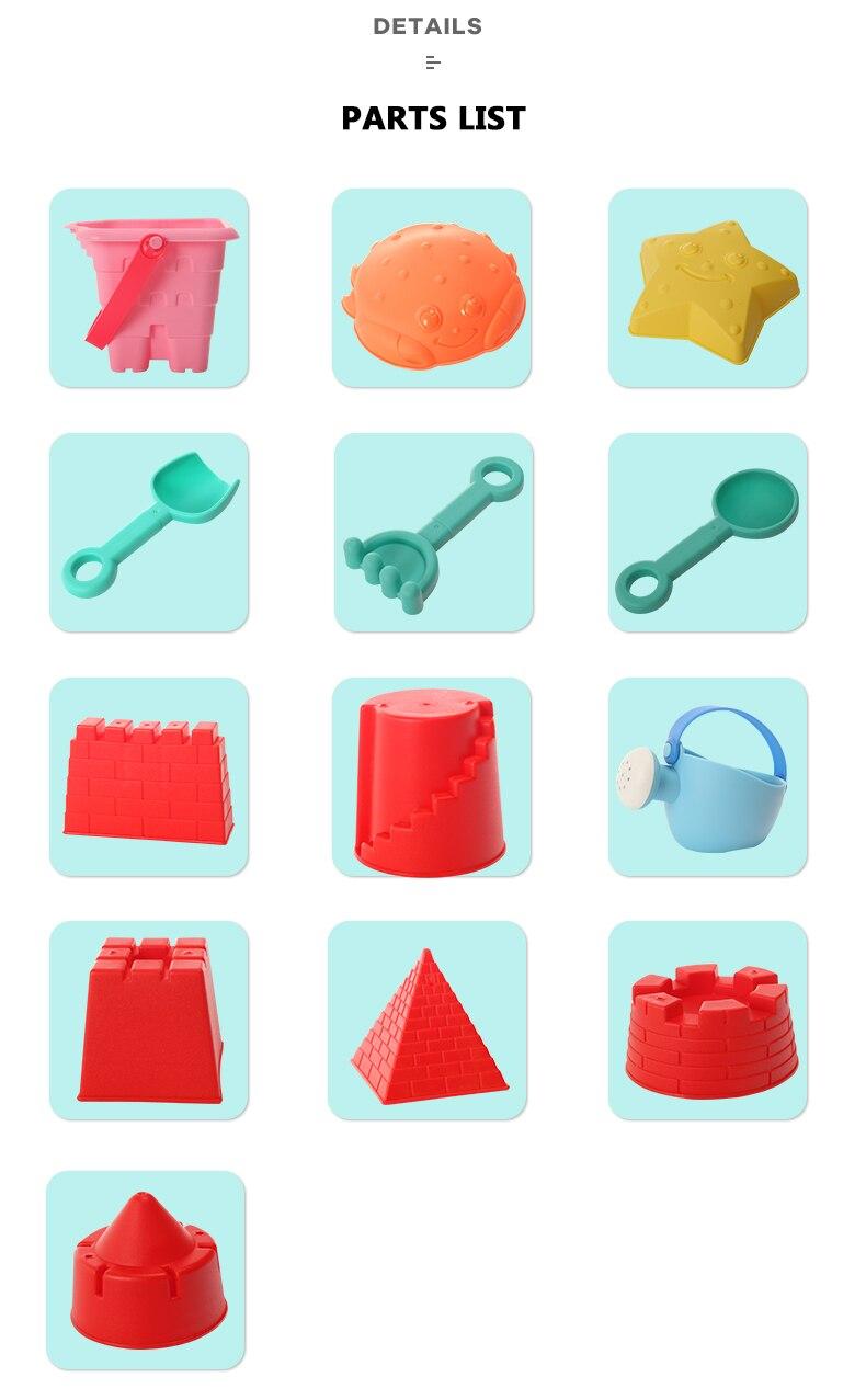 areia conjunto brinquedo praia cubo areia eco-friendly