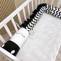 Baby Bett Stoßfänger Schwarz Und Weiß Zebra kinder Krippe Bett Leitplanke Stoßstange Protector Kissen Anti Crash Bar Für neugeborenen Schlaf-in Stoßstangen aus Mutter und Kind bei