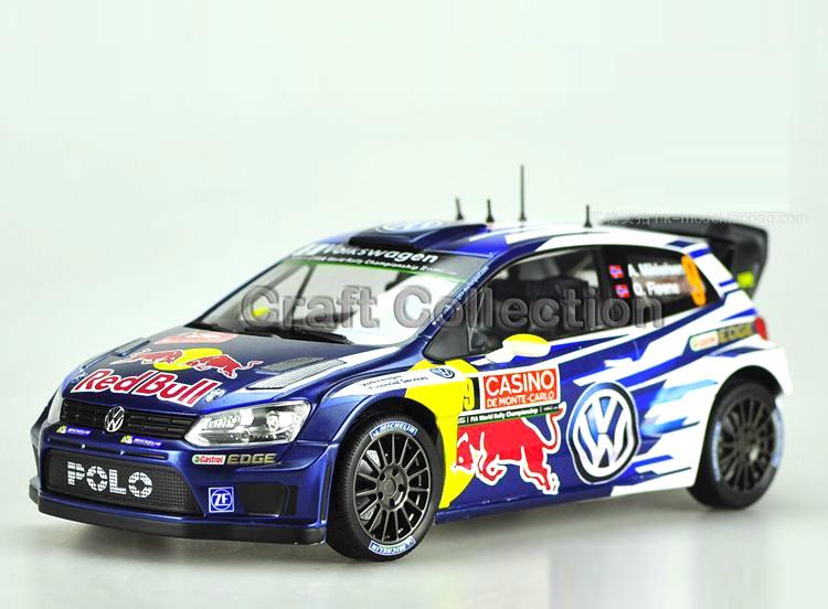 * 1:18 VW Volkswagen POLO R WRC 9 Race Car A. Mikkelsen & O. Floene Alloy Model Diecast Modell Auto Scale Models