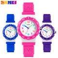 SKMEI мода Спорт на открытом воздухе дети часы Элитный бренд водостойкий PU наручные часы кварцевые Дети Wristwatche Montre Enfant