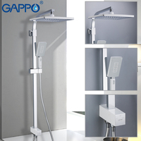 GAPPO Shower Faucets Set waterfall shower mixer tap bathroom faucet shower water tap wall mounted faucet rainfall Chrome Plated