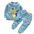 2016 new Autumn Korean Long sleeve Cartoon boys clothing sets cotton boys clothes 2pcs children clothes 1-4 year