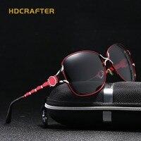 2017 new luxe vrouwen zonnebril gepolariseerde hd zonnebril vrouwelijke merk designer bril rijden goggle vrouwelijke bril gratis doos