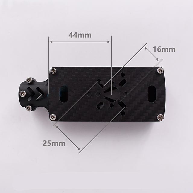 Yuenhoang 2PC 16mm/19mm/25mm Hole Distance Motor Mount 4-Axis 6-Axis 8-Axis Aerial Drone 16mm Carbon Tube Clamp  Holder
