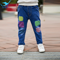 M&F Boys Jeans Pants Spring Fashion Print Children's Clothing Jeans Blue Trousers Casual Baby Children Pants For Girls