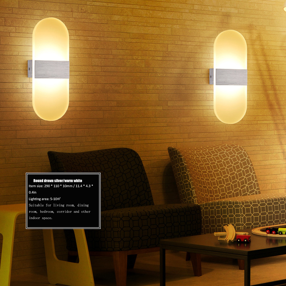 Us 17 15 35 Off Led Night Light Wall Lamp Corridor Aisle Mounted Sconce Bedside Acrylic Simple Decorative Lighting In
