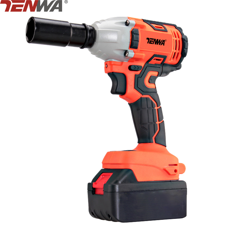 TENWA 21V 4500mAh Electric Brushless Impact Wrench Woodworking Car Repair Wrenches Cordless Lithium Battery Drill Power Tool