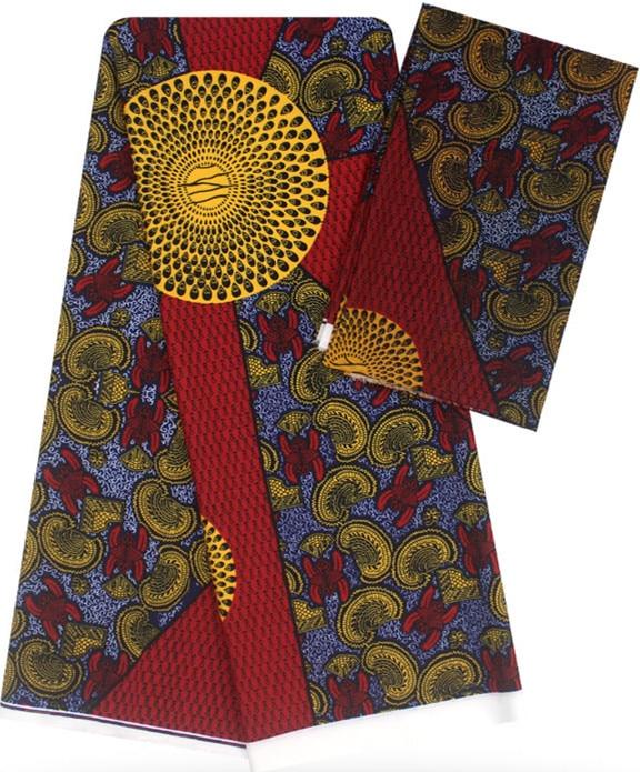 2+4yard satin silk with chiffon fabric soft african fabric for dress ankara fabric african wax prints fabric nigerian wax B2 C44-in Fabric from Home & Garden    1