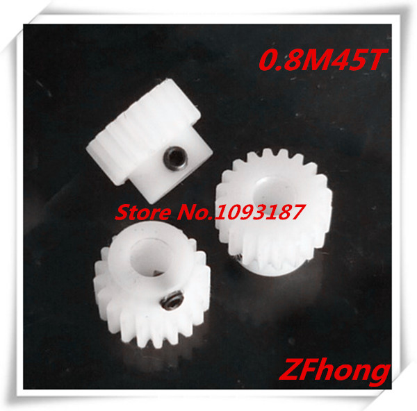 2pcs POM Nylon Gear 0.8M45T 45 Ttooth Teeth Mould 0.8 Plastic Gear Bore 3mm,4mm,5mm,6mm free shipping 0 5m gear 0 5m plastic gears pom 0 5m 24t stepped gears hole 3mm 4mm 5mm 6mm meat grinder parts etc