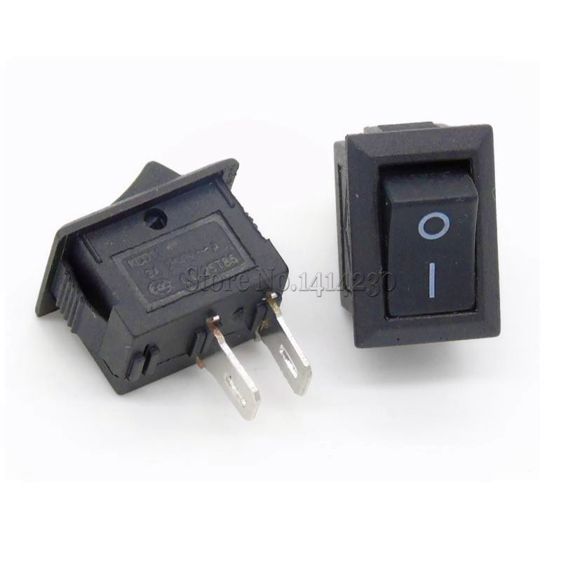 5Pcs Black Push Button Switch 3A 250V KCD11 2Pin / 3Pin Snap-in On/Off Rocker Switch 10MM*15MM BLACK And Red