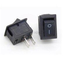 цена на Hot Sale 5Pcs AC 250V 3A 2 Pin ON/OFF I/O SPST Snap in Mini Boat Rocker Switch