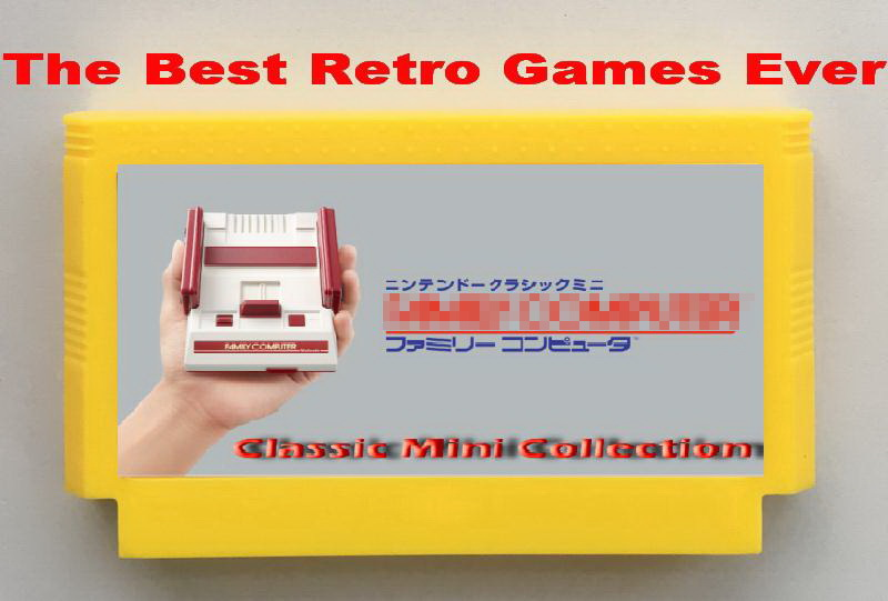 The Best Retro Games Ever Classic Mini Collection FC60Pins game cartridge Dragon Quest 1234 Dragon Warrior