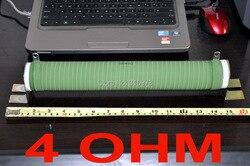 4 أوم 500 واط عالية الطاقة السيراميك أنبوب wirewound المقاوم ، 500 واط.