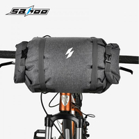 SAHOO 122008 Reflective Cycling Mountain Road Bicycle 5L Bike Handlebar Bag Front Frame Top Tube Pannier Pouch Roll up Closure