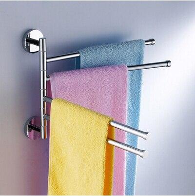 Quatre leviers en laiton massif Chrome pivotant élégant porte-serviettes, porte-serviettes produits de salle de bain/accessoires de bain (UP-BB02)