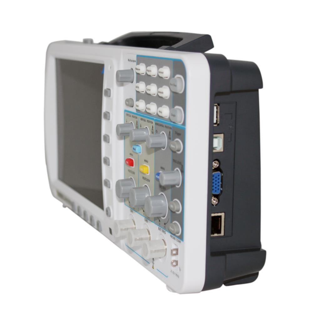 Nuovo sottile oscilloscopio OWON 100Mhz SDS7102 1G / s LCD da 8