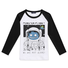 Children T Shirts Long Sleeve Clothes Girls Tops O-Neck Cotton T-Shirt Kids Clothing Monster Planet Shirt Print Baby Boys Tshirt t shirts frutto rosso for girls and boys sm117k021 top kids t shirt baby clothing tops children clothes